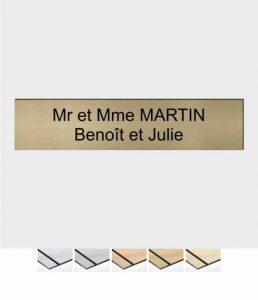 Plaque boîte aux lettres : vous avez besoin de vous distinguer par rapport à votre boîte aux lettres?